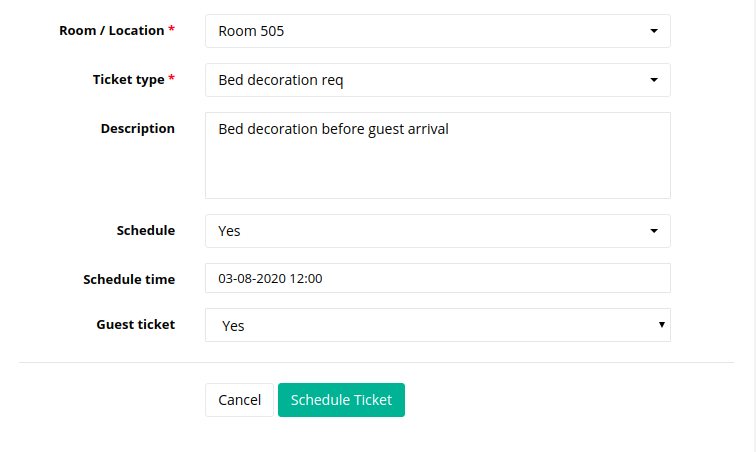 geedesk scheduling tickets